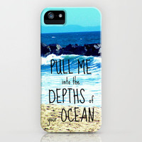PULL ME INTO YOUR DEPTHS II  iPhone Case by Tara Yarte  | Society6