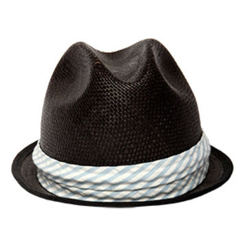 Rag & Bone Straw Fedora Black
