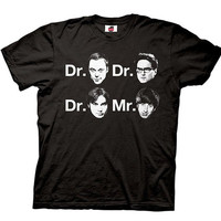 The Big Bang Theory Dr. & Mr. Faces T-shirt = 1956789636